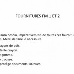 fournitures FM